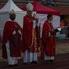Les évêques attendent le début de la messe
