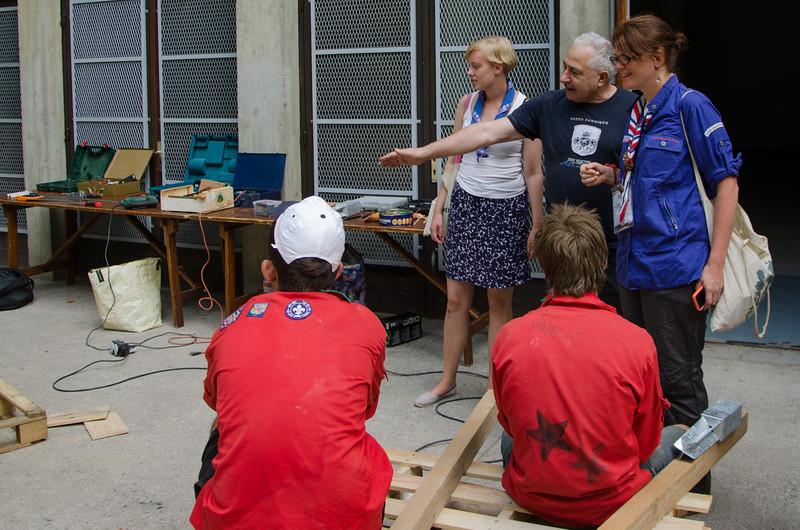 L'équipe Internationale visite les chantiers