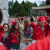 Cercle d'au revoir pour des scouts bretons et des DPSG
