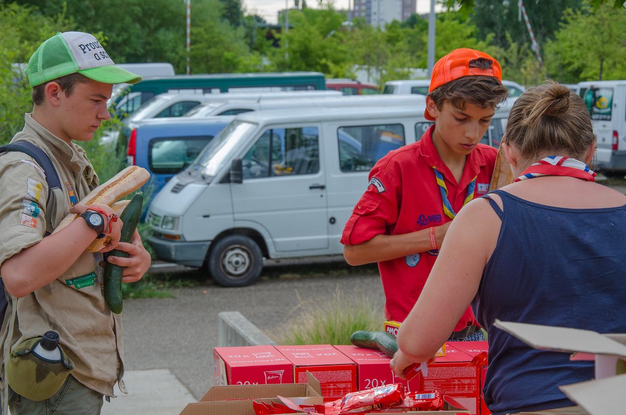 Distribution du pique-nique