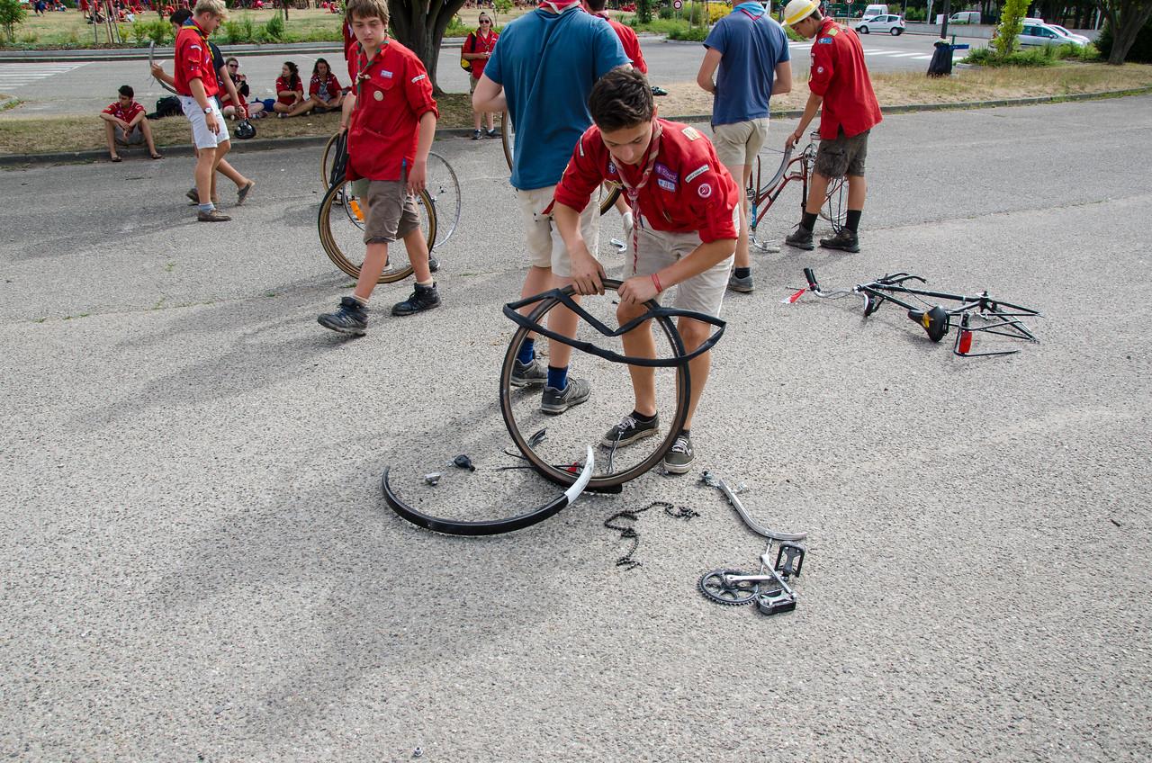 Démontage vélos