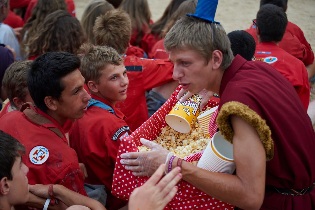 Distribution de popcorns