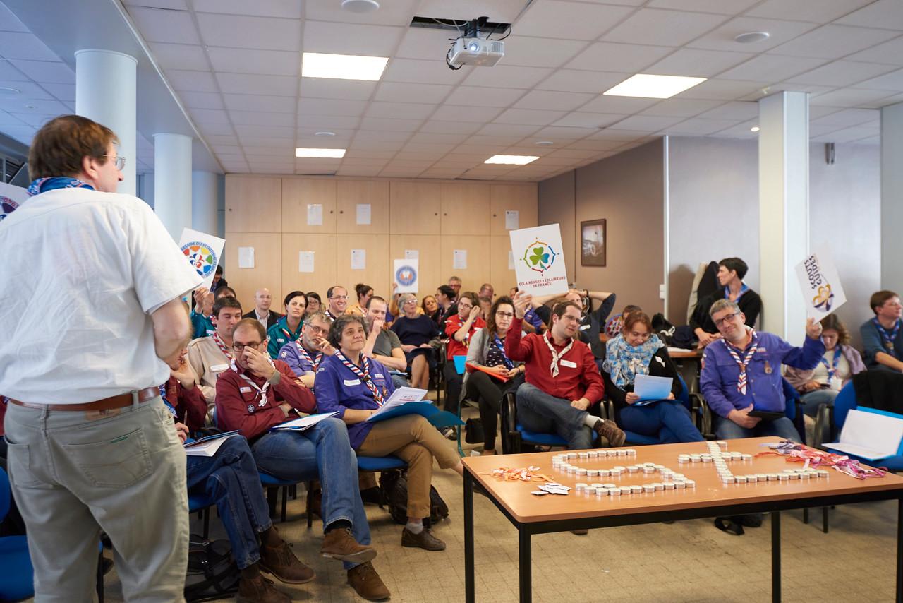 Vote des résolutions de l'AG du Scoutisme Français