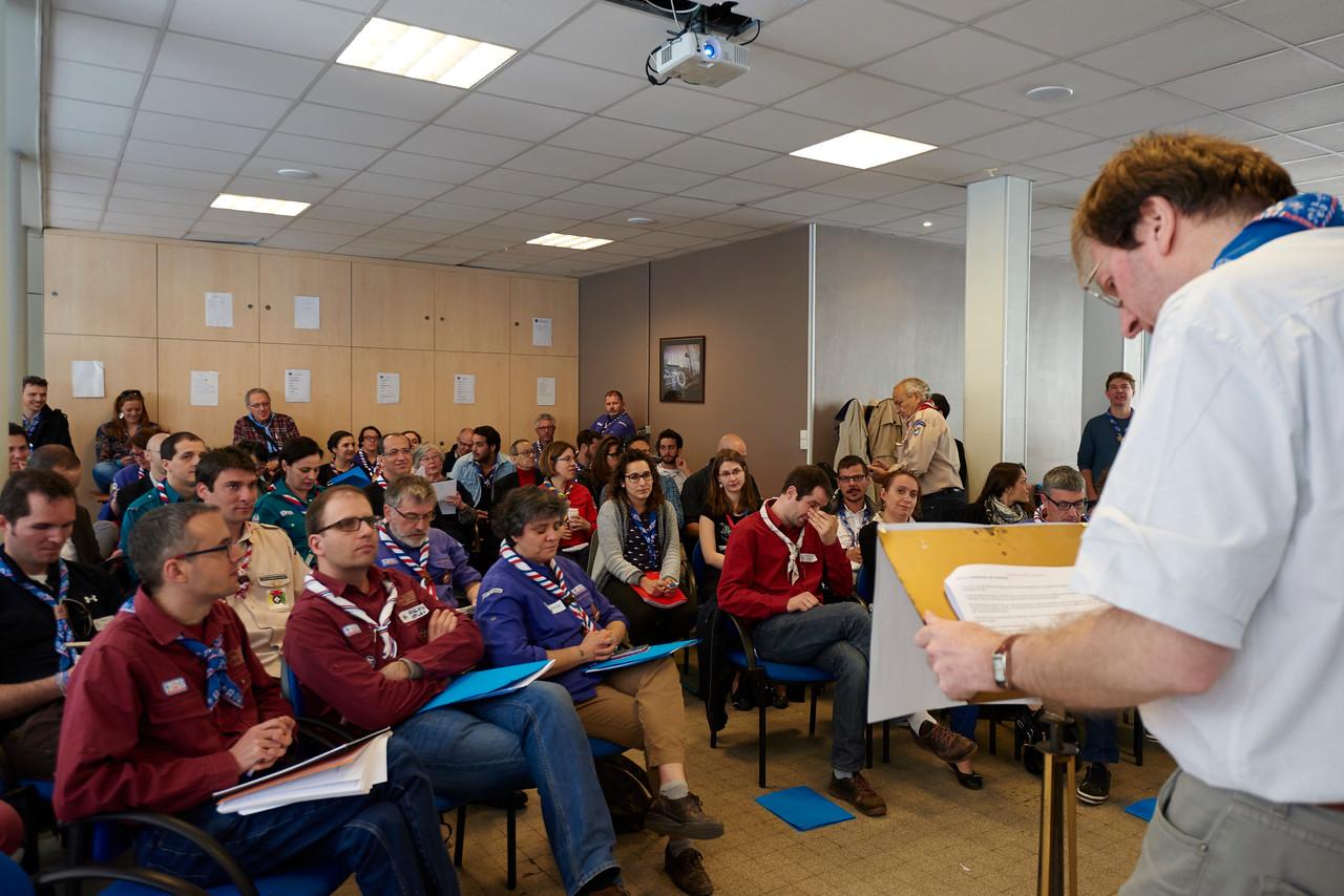 Michel Payen lance l'AG du Scoutisme Français