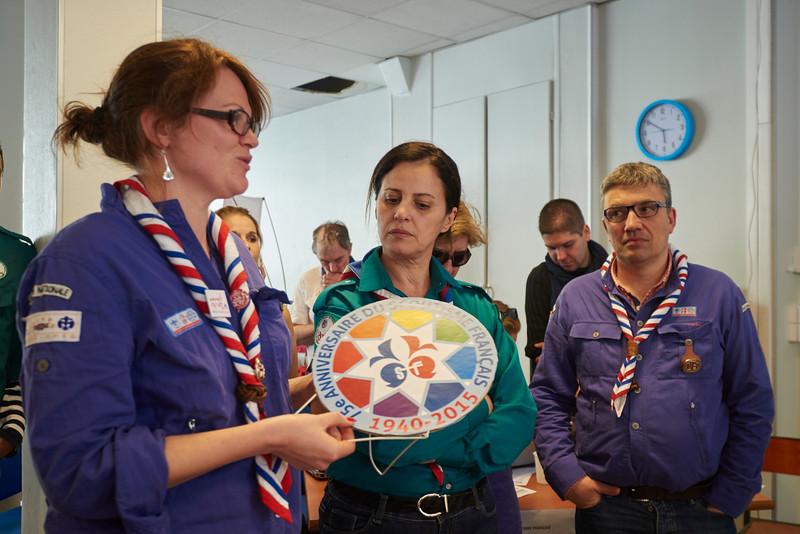 Elise Drouet a la charge de fêter les 75 ans avec les jeunes qui participent au Jamboree Mondial du Japon cet été.