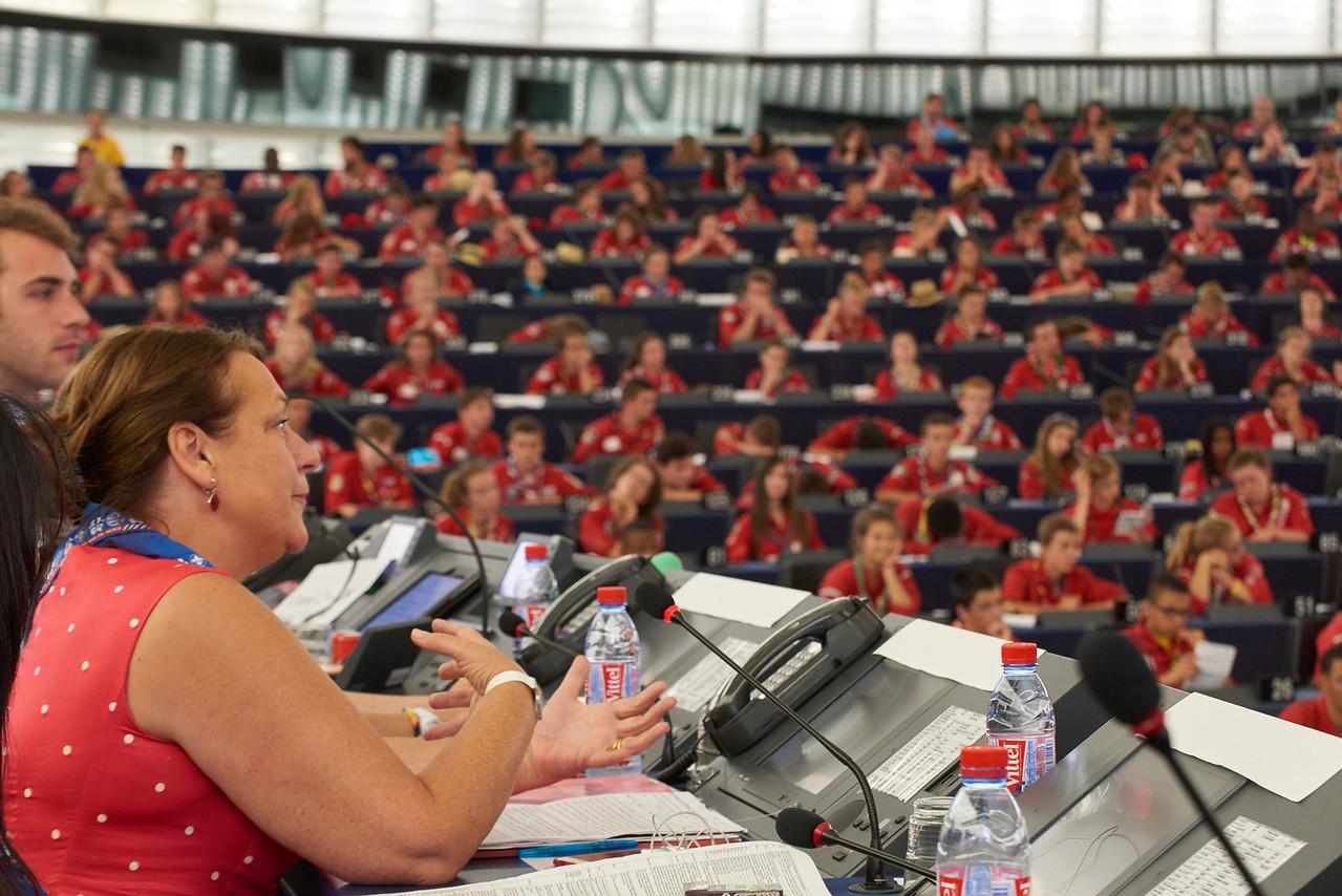 Intervention d'une députée européenne