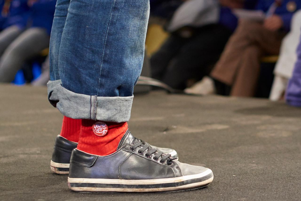 Les chaussettes du président, VRP du rassemblement You're Up