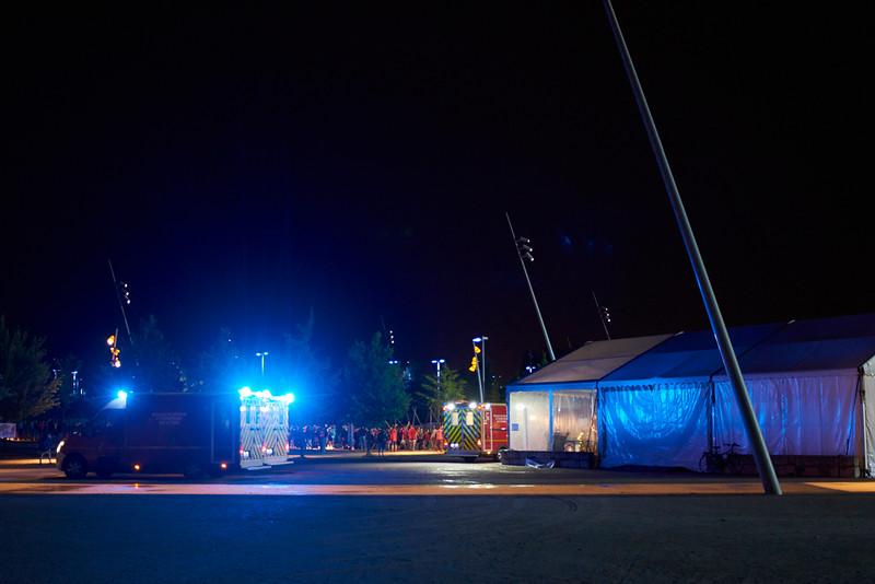 Les secours en soutien des scouts la nuit