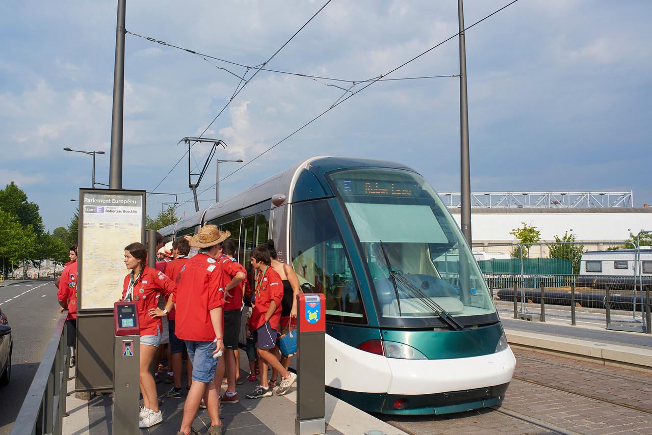 Arrivée du tramway
