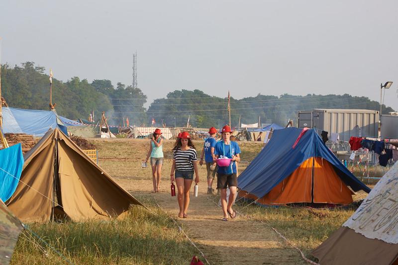 Plein d'eau au village, ambiance camping