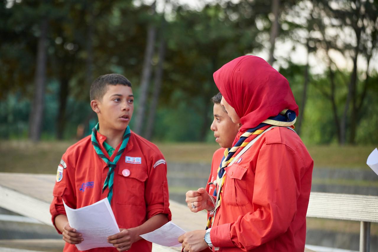 Les scouts musulmans répêtent