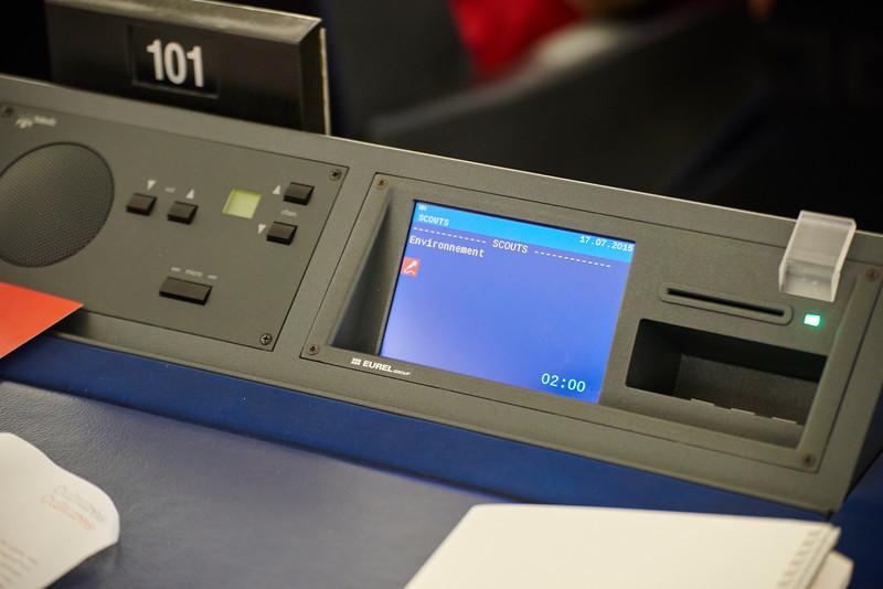 Machine à voter du parlement