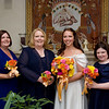 The bridal party: Sister Erin Reilly, Mother Betty McKenna, Courtney, Niece Paige Reilly