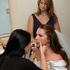 Makeup: Courtney gets made up, Maid of Honor Amy Mahery provides moral support
