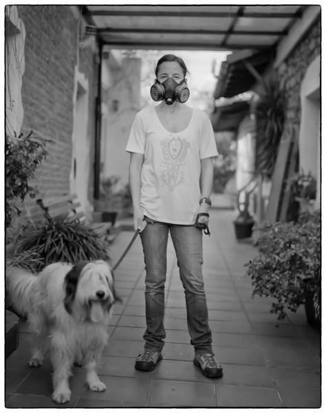 La dueña del perro