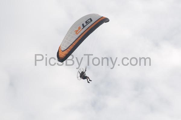 Folks Parachute Flying on Apr. 12,  2015