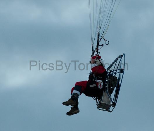 Santa Parachute Flying on  Dec. 9, 2015