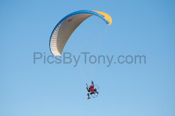 Folks Parachute Flying over Flagler Beach, FL on Feb. 27, 2016