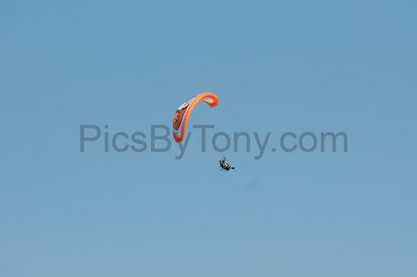 Folks Powered Paragliding over Flagler Beach, FL on Apr. 24, 2016