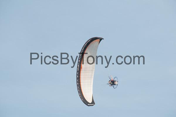 Eric Cote Powered Paragliding over Flagler Beach, FL on Jul. 22, 2016