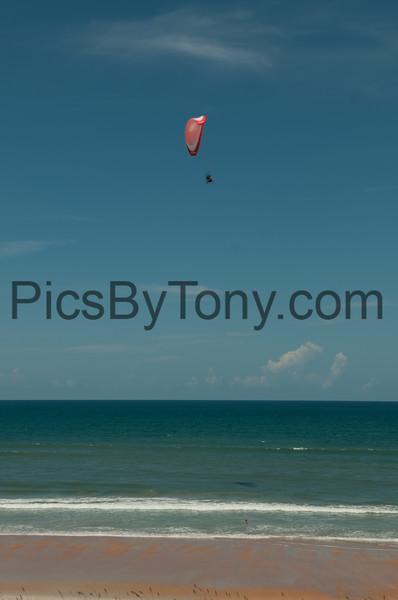 Powered Paragliding over Flagler Beach, FL on Jul. 23, 2016