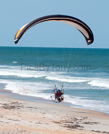 Eric Cote Powered Paragliding over Flagler Beach, FL on Sep. 10, 2016
