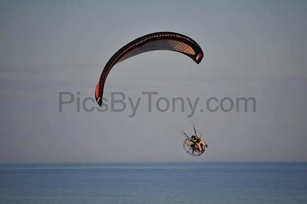 Folks Parachute Flying over Flagler Beach, FL  on Feb. 2,  2016