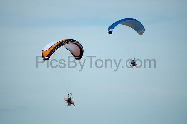 Folks Parachute Flying over Flagler Beach, FL  on Feb. 21,  2016