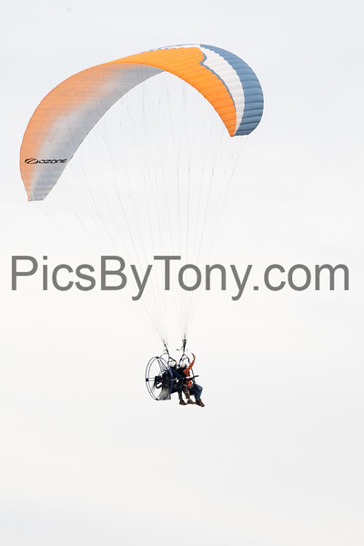 Eric Cote Tamdem Powered Paragliding over Ormond Beach, FL on Jan. 20,2018