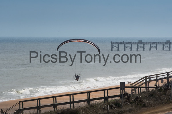 Matt Langenderfer Powered Paragliding over Flagler  Beach, FL on Jan. 21,2018