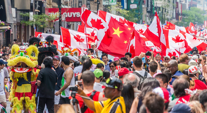 Wall of people - Canada Day Celebration