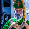St Patrick begins the Parade