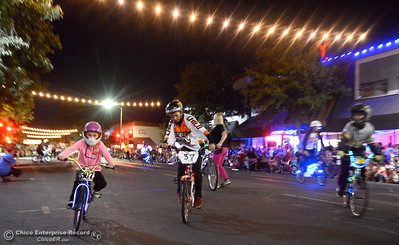 "Hundred or maybe thousands of Chicoans line the streets of downtown Chico during the 29th annual Parade of Lights Friday Oct. 13, 2018. The theme of ""Exploration: From Deep Sea to Deep Space (and everything in between!),"" was evident as spacemen and undersea creatures made their way down Main Street.  (Bill Husa -- Enterprise-Record)"