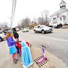 KRISTOPHER RADDER — BRATTLEBORO REFORMER<br /> People wave as a parade of first responders and teachers go down Route 5, in Westminster, Vt., on Friday, April 24, 2020.