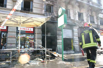 Forza Italia office, placed in Corso Buenos Aires, Milano, exploded, 11 marzo 2006.