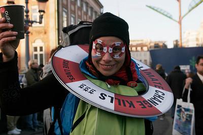 Tck tck tck protester, COP 15, Copenhagen, 2010