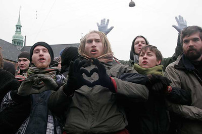 Protesters during COP 15, Copenhagen, 7–18 December 2009