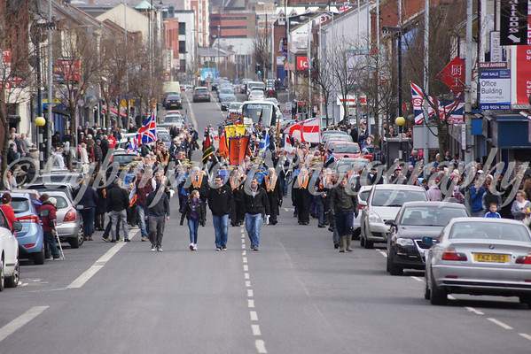 Sandy Row District Woodvale Weekly Protest