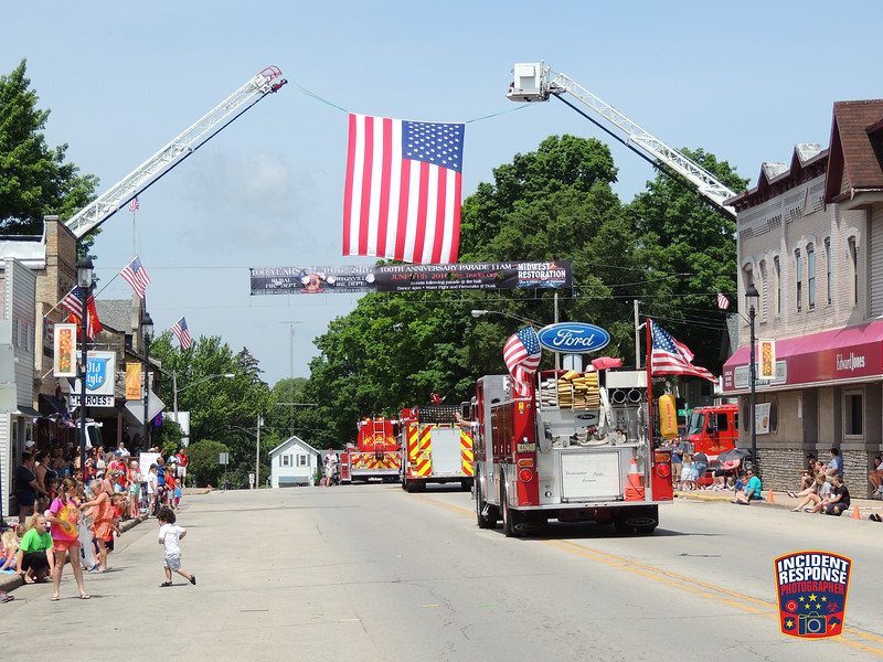 The Hortonville Fire Department celebrated their 100th anniversary with a parade on June 11, 2016. Photo by Asher Heimermann/Incident Response.