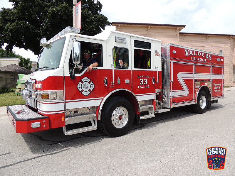 The annual New Holstein Fireman's Parade was held in New Holstein, Wisconsin on Sunday, July 10, 2016. Photo by Asher Heimermann/Incident Response.