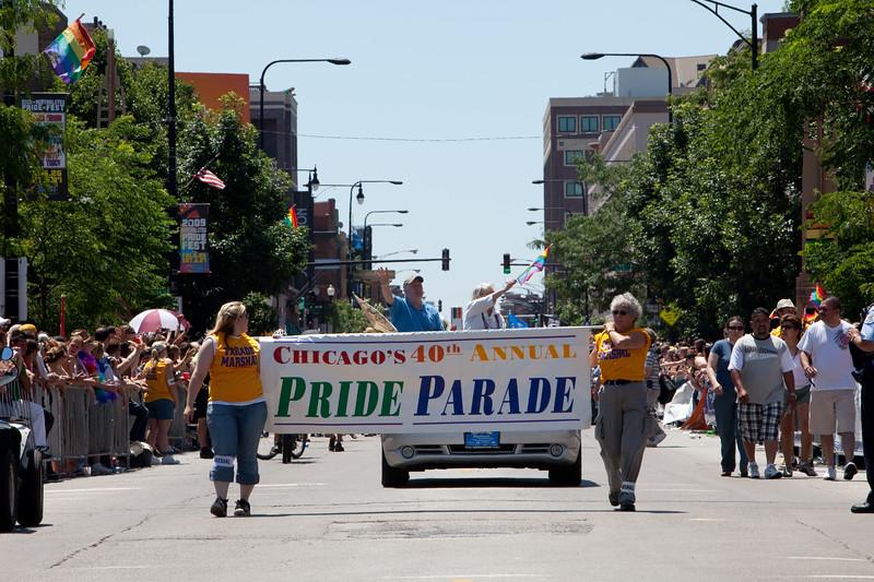 Marshals start the Parade