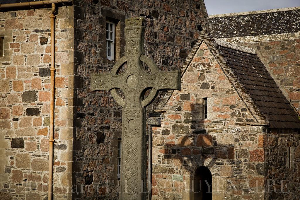 Celtic Cross at Iona Abbey