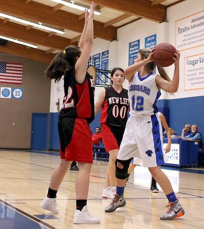 Girls Basketball vs. New Life Christian 12/8/2015