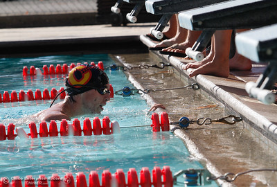 "Chico High School's William ""Gus"" Daverson finishes the 200 I.M. with a 2:30.69 for first during a swim meet against Paradise High School September 21, 2016 at Bidwell Junior High School in Chico, Calif. (Emily Bertolino -- Enterprise-Record)"