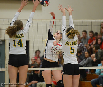Paradise High hosts Las Plumas in the Northern Section Division III first-round playoff match Wednesday November 1, 2017 in Paradise, California. (Emily Bertolino -- Enterprise-Record)