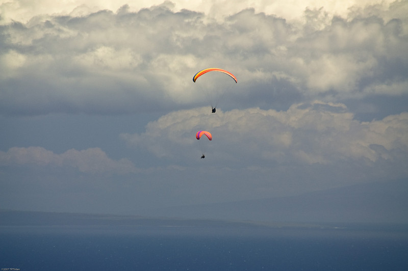 Paragliders  and Hang Gliders over Makapuu-66
