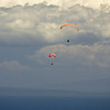 Paragliders  and Hang Gliders over Makapuu-67