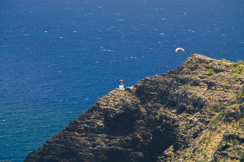 Paragliders  and Hang Gliders over Makapuu-53