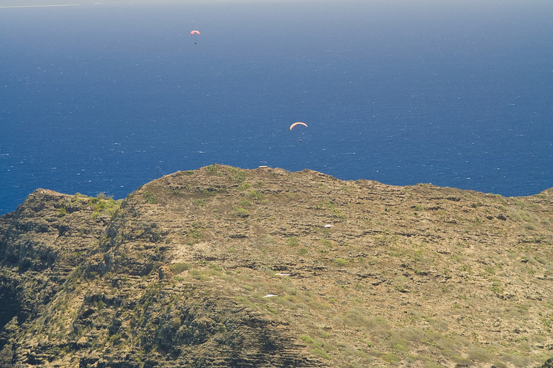 Paragliders  and Hang Gliders over Makapuu-51