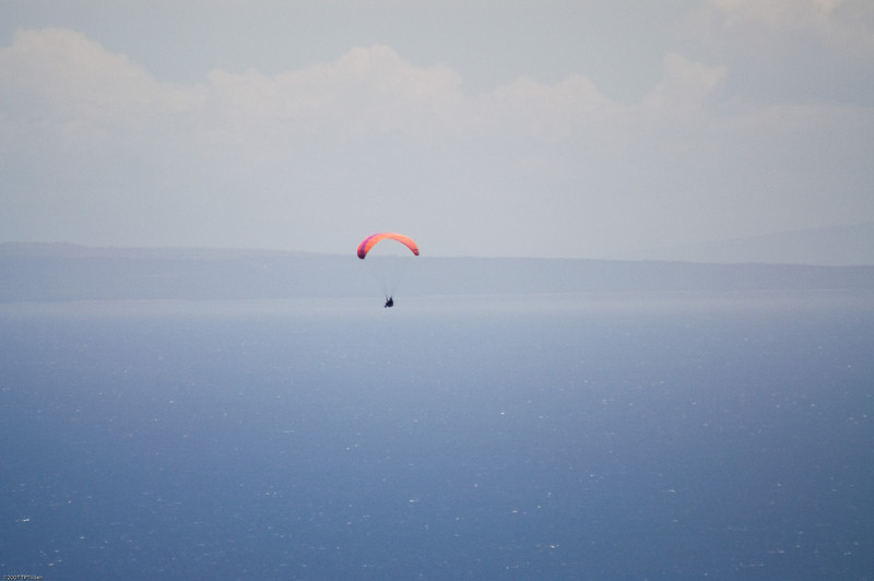 Paragliders  and Hang Gliders over Makapuu-17